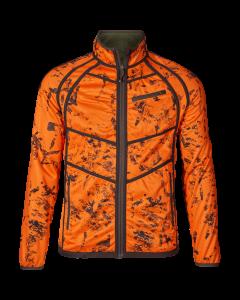 Seeland Vantage reversible fleece Pine green / InVis orange Blaze