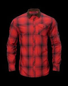 Härkila Driven hunt flannel skjorte red/black