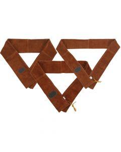 Traditionel langbuepose i ruskind 193x12 cm