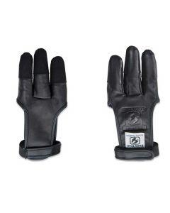 Bucktrail skydehandske sort læder med cordura