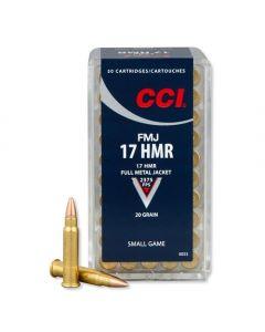 CCI 17 hmr 20 grains FMJ 50 stk