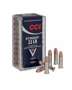 CCI 22 lr  salonpatron Stinger HP 2 grains 50 stk
