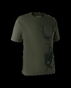 Deerhunter T-shirt med hjort Bark Green