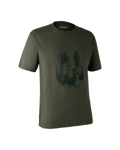 Deerhunter T-shirt med Skjold Bark Green
