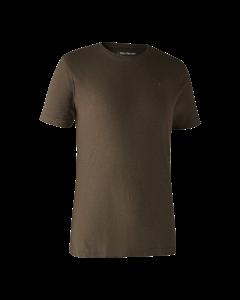 Deerhunter Basis 2-pak T-shirt Brown Leaf Melange