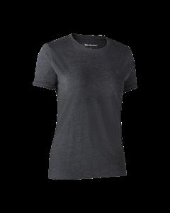 Deerhunter Ladies Basis 2-pak T-shirt Brown Leaf Melange