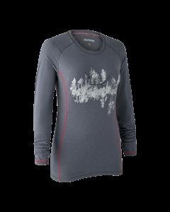 Deerhunter Lady Hazel T-shirt med lange ærmer Iron melange