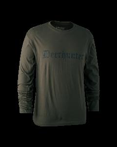 Deerhunter Logo T-Shirt med lange ærmer Bark Green