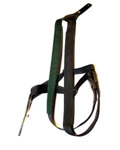 Riffelrem dobbelt læder/webbing