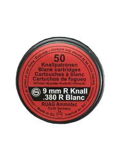 Geco startpatroner 9 mm knald. cent. nitrokrudt 50 stk