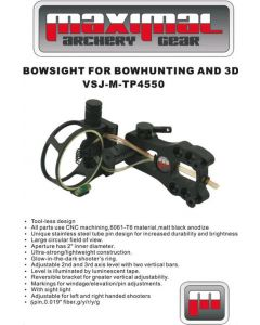 Maximal Buesigte 5 pin Toolless m/lys