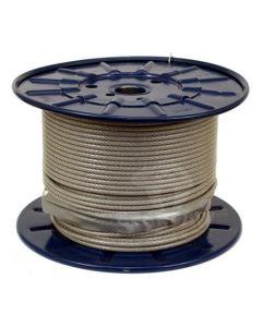 Plastikbelagt stålwire 100m Ø5mm