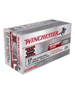 Winchester Super X 20 grains  JHP kal. 17 hmr 50 stk