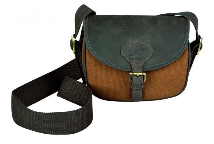 Le Canards patrontaske i canvas/læder