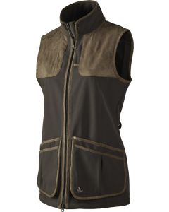 Seeland Winster softshell skydevest black coffee Lady