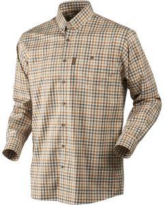 Härkila Milford langærmet skjorte Spice check - strygefri
