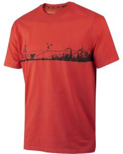 Härkila Odin Hunter & dog t-shirt Fiery red