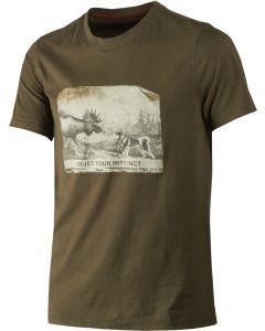 Härkila Odin Moose and dog T-shirt