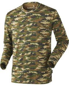 Seeland speckled T-shirt m/ lange ærmer i GP camouflage