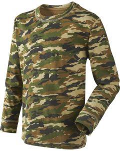 Seeland speckled T-shirt m/ lange ærmer til børn i GP camouflage