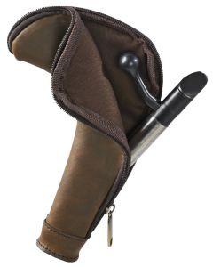 Härkila bundstykke brun mørkt læder 15 x 23 cm