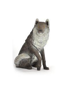 Franz Bogen siddende ulv