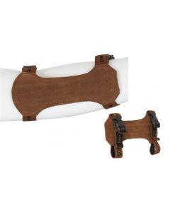Buck Trail traditionel armbeskytter 18 cm brun