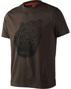 Härkila Fjal T-shirt med print brun