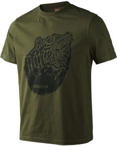 Härkila Fjal T-shirt med print grøn
