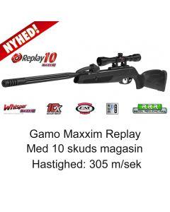 Gamo Maxxim Replay luftgevær med 10 skuds magasin 4x32 mm kikkert 305 m/sek