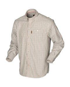 Härkila Stornoway active skjorte burgundy check