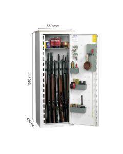 Nor-Lyx våbenskab HL1000  til 16 våben 151 x 55 x 42 cm fragtfrit leveret