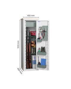 Nor-Lyx våbenskab HL12  til 14 våben 151 x 45 x 42 cm elektronisk kodelås fragtfrit leveret