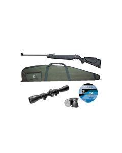 Norica Dragon luftgevær pakke med kikkert, foderal og hagl 305 m/sek