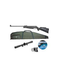 Norica Titan luftgevær pakke med sigte, foderal og hagl 190 m/sek