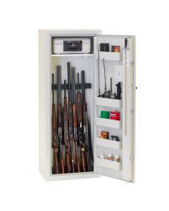 Profsafe Godkendt våbenskab til 10 våben HxBxD 150 x 57,5 x 40 cm FRAGTFRIT LEVERET