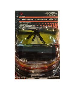Radians skydebrille med 5 udskiftelige glas.