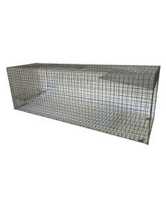 Rævefælde / Mårhundefælde Mål: 123 x 41 x 37 cm.