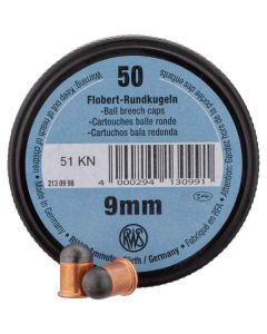 RWS Flobert 9 mm rundkugle 50 stk