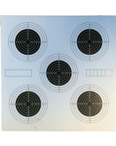 Skydeskiver 14x14 cm med 5 plet