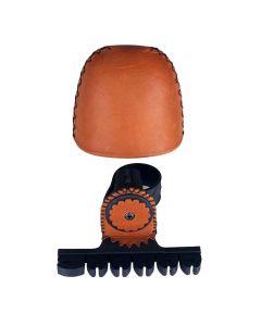 Thunderhorn traditionel buekogger 2 delt til 4 pile brun læder