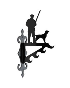 Vildtkrog M. Jæger med hund, lille